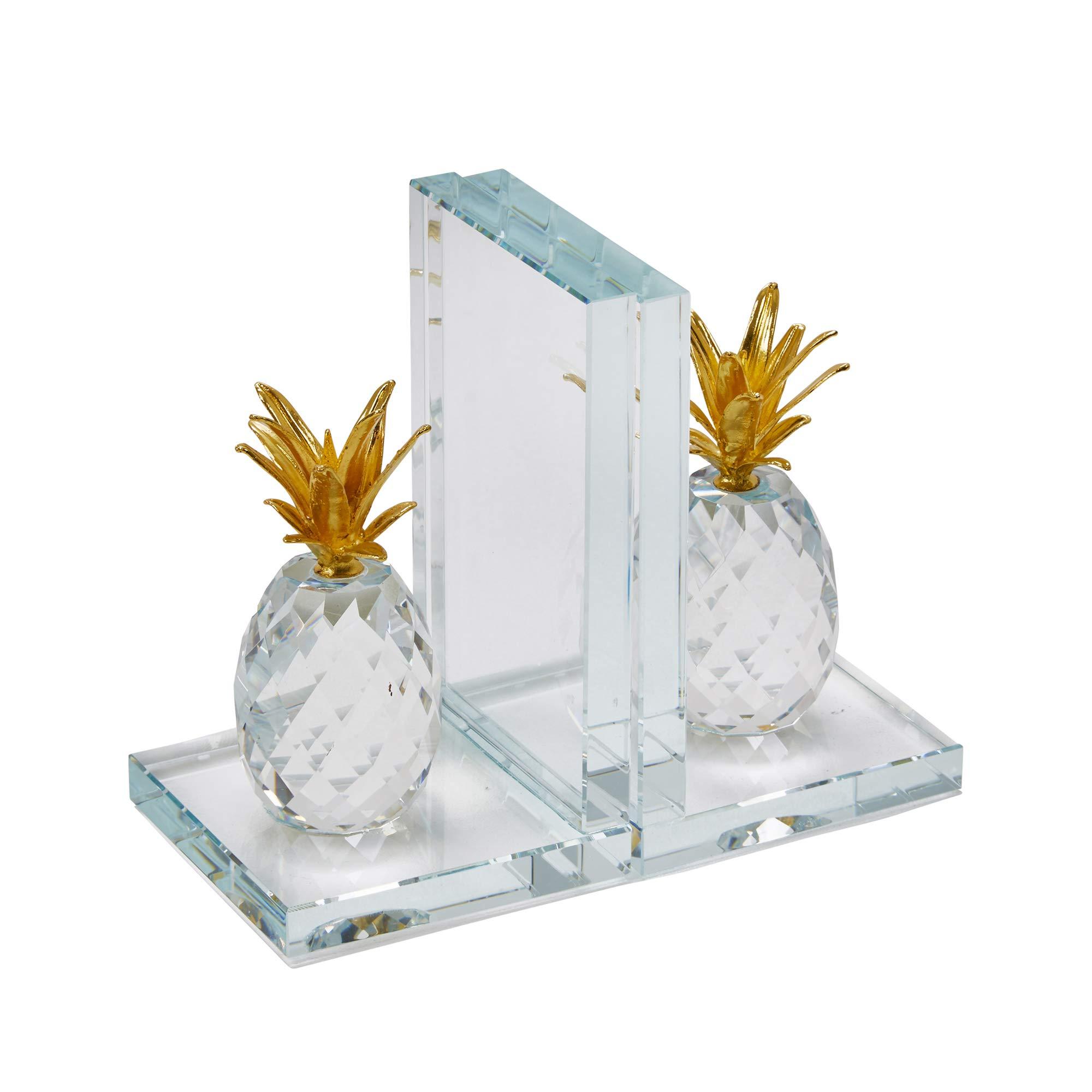 - White NY8003 Contemporary Book Shelf Decor Set of 2 Helping Hands Bookend Set Danya B