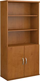Series C 36W 5 Shelf Bookcase with Doors in Natural Cherry