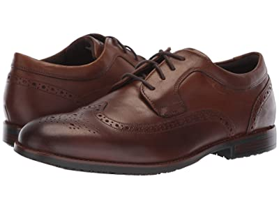 Rockport Dustyn Waterproof Wingtip (New Caramel) Men