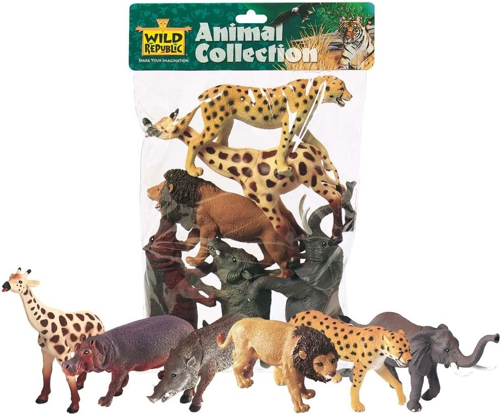 Wild Republic African Cheap mail order specialty store Animals Polybag Che Giraffe Hippo Louisville-Jefferson County Mall Lion