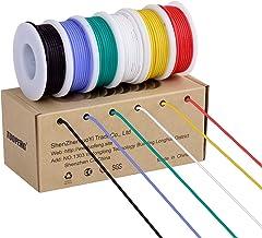 Cable eléctrico de 18 AWG, cable de conexión de cable flexible de calibre 18 (6 bobinas de 4 colores diferentes) Resistencia a altas temperaturas de cable trenzado 600V