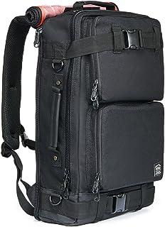 Laptop Rucksäcke 17 Zoll, Kaukko Damen Herren Schulrucksack Beiläufig Stylisch Backpack für Outdoor Reisen Wandern Camping Bergsteigen Fit für 15,6Laptop Schwarz