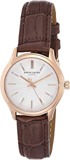 Pierre Cardin Womens Quartz Watch, Analog Display and Leather Strap A.PC902432F03