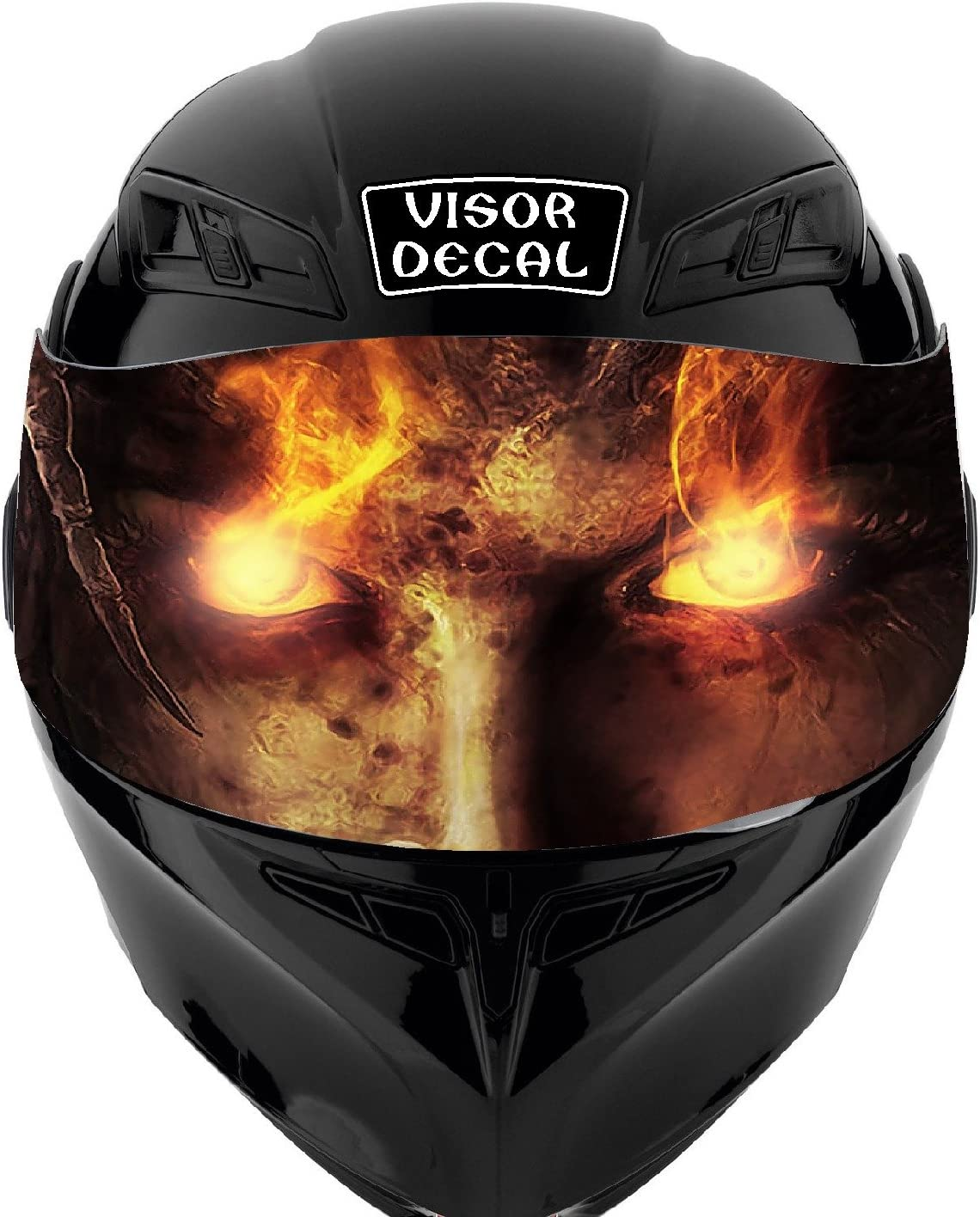 V40 Devil Demon VISOR TINT DECAL Raleigh Long Beach Mall Mall Graphic Fits: Helmet Sticker Ic