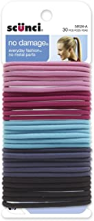 Scunci Effortless Beauty Large No-damage Pastel Elastics, 2 Packs Of 30 = 60 Count - Colors May Vary