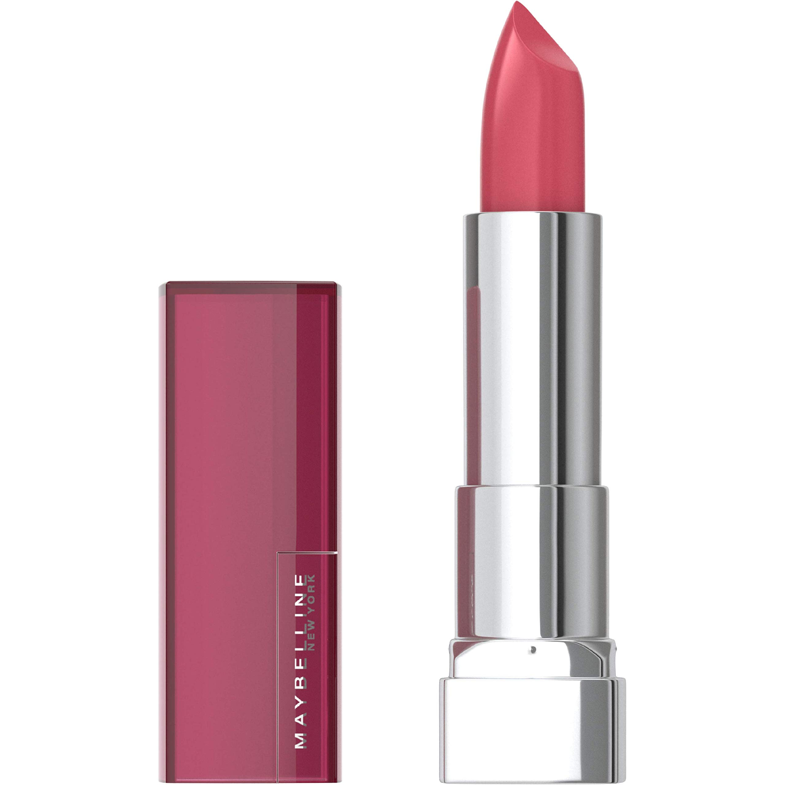 Maybelline Color Sensational Lipstick, Lip Makeup, Cream Finish, Hydrating Lipstick, Nude, Pink, Red, Plum Lip Color, Pink Wink, 0.15 oz; (Packaging May Vary)