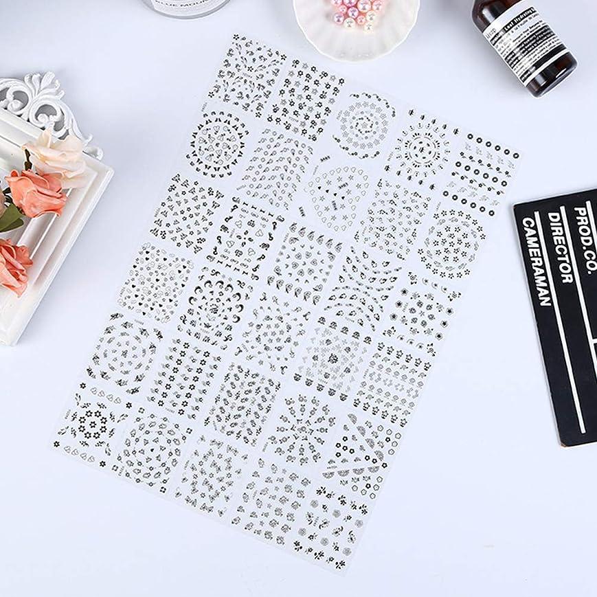 騒々しいテセウス納屋Murakush ネイルステッカー 10個 3D 透明 ボトムフラワーシリーズ 黒と白 高級感 欧米風 ネイルステッカーデコレーション 10 black flowers