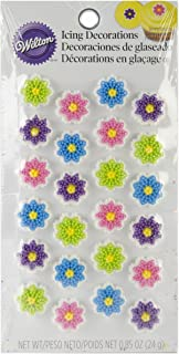 Wilton 710-1230 Flower Cookie Decorations, Mini