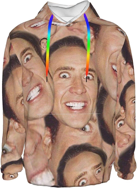 Patrick Nicolas Cage Men'S Cheap SALE Start Hoodie Sweatshirt New arrival Print Bo Full