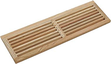 WELLAND Red Oak 32-Inch Hardwood Register Cold Air Return Wall Vent