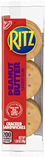 Ritz Peanut Butter Cracker Sandwiches, 8 Count Individual Snack Packs