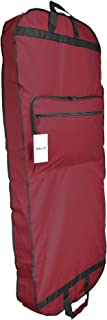 DALIX 60 Professional Garment Bag Cover for Suits Pants & Gowns Dresses (Foldable) (Maroon)