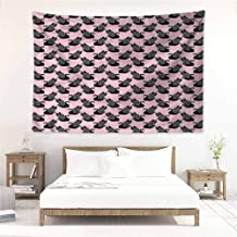 Sunnyhome High-end Quality Tapestry,Swan Vintage Black Princesses,Wall Hanging Carpet Throw,W84x54L