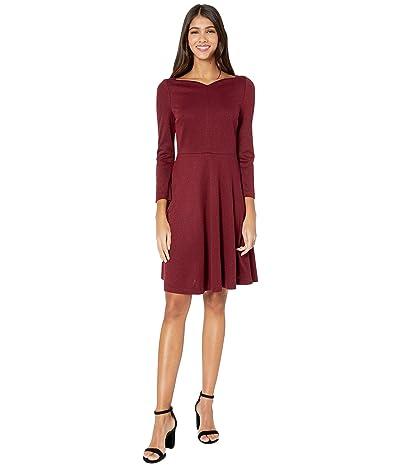 Kate Spade New York Sparkle Ponte Dress (Mission Fig) Women