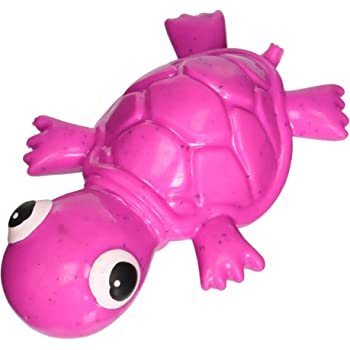 Cycle Dog 3-Play Turtle Dog Toy with Ecolast Recycled Material, Mini, Fuchsia