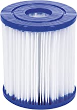 Bestway 58093 - Set de Dos Filtros de Agua Tipo I para Depuradora de Cartucho 1.249 litros/hora, Blanco, 8 x 8 x 18 cm