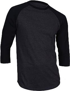 0c3deaed8 Dream USA Men's Casual 3/4 Sleeve Baseball Tshirt Raglan Jersey Shirt