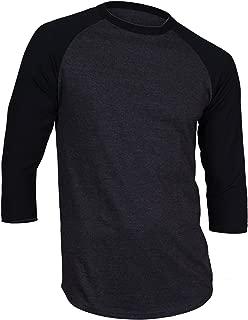 Dream USA Men's Casual 3/4 Sleeve Baseball Tshirt Raglan Jersey Shirt