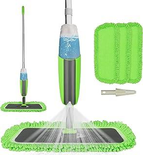 Tencoz mop ze spryskiwaczem do podłogi ze zintegrowanym zbiornikiem 300 ml w trzonku i 2 poszewkami z mikrofibry, do domu,...