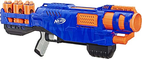 NERF Elite - Triology DS 15 Blaster inc 15 Official Elite Darts & 5 Shells - Outdoor Games and Toys for kids - Ages 8+