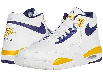 Nike Flight Legacy (White/Regency Purple/University Gold) Men