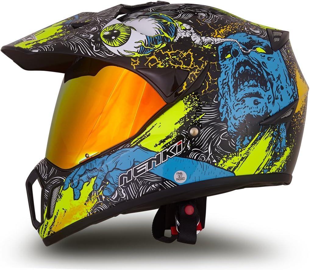 NENKI Financial sales sale Dual Sport Enduro Motocross shipfree Helmet Motorcycle Dot NK-310
