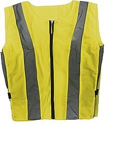 Chaleco reflectante de seguridad para hombre de motocicleta Amarillo, L sin mangas