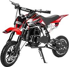 XtremepowerUS 49CC 2-Stroke Gas Motorized Mini Pocket Dirt Bike Off-Road Motorcycle EPA Mini Kids Ride-on, Red