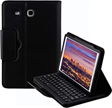 Keyboard Case for Samsung Galaxy Tab E 9.6 (SM-T560/T561/T565/T567V), YMH Detachable Magnetic Removable Wireless Bluetooth Smart Keyboard Cover Protective Stand Book Folio Slim Fit PU Leather (01)