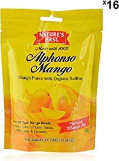 Nature's First Alphonso Mango Puree, 10.58 OZ (Pack of 16)
