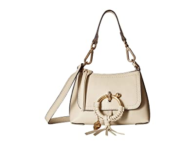 See by Chloe Joan Mini Hobo Lizard (Cement Beige) Cross Body Handbags