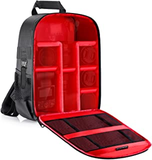Neewer Camera Case Backpack Waterproof Shockproof 12.2x5.5x14.6 inches Bag (Red Interior) for Canon,Nikon,Sony,Olympus,Pen...