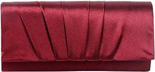 Damara , Damen Schultertasche Large, Rot - Weinrot - Größe: Large