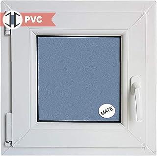 Ventana PVC Practicable Oscilobatiente Izquierda 600 ancho x 600 alto 1 hoja con vidrio Carglass (Climalit Mate)