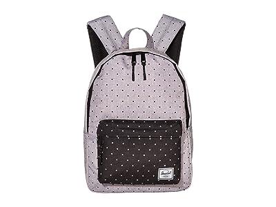 Herschel Supply Co. Classic Mid-Volume (Polka Dot Crosshatch Grey/Black) Backpack Bags