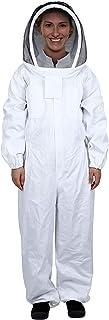 Mufly Imkeranzug mit Zaunschleier für Imker,Belüfteter,Baumwolle Imker-Anzug,Unisex Imker Biene Anzug für Professionelle Imker und Anfänger