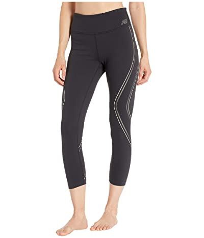 New Balance Printed High-Rise Transform Crop Pants 2.0 (White Oak) Women