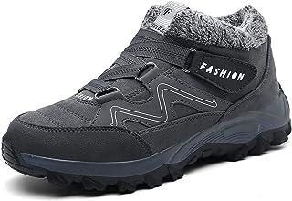 YLLYI Chaussures en Coton pour Hommes, Chaussures D'extérieur Ultralégères, Bottes De Neige, Bottes De Neige Chaudes Et Ve...