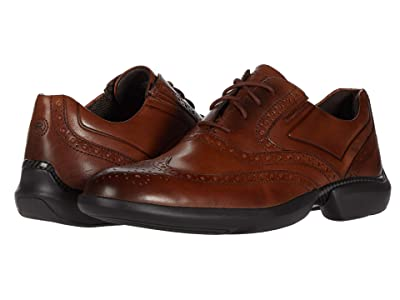 Rockport Total Motion Advance Wing Tip (Cognac) Men