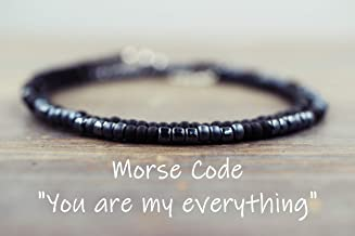 MENS You are my everything Morse Code Bracelet for Men, Boyfriend Jewelry