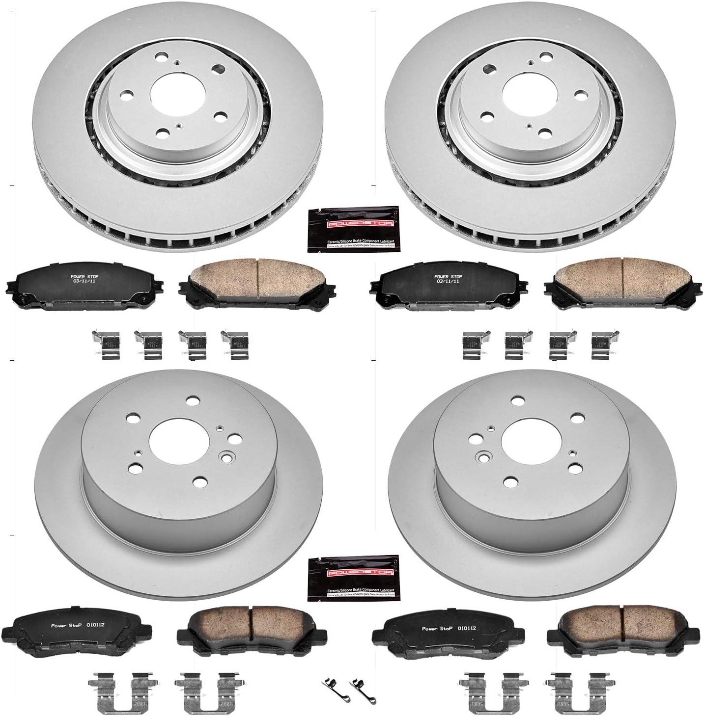 Power Stop CRK1990,Z17 Front Coated Rotor Kit-Coated Brake Rotors /& Ceramic Brake Pads