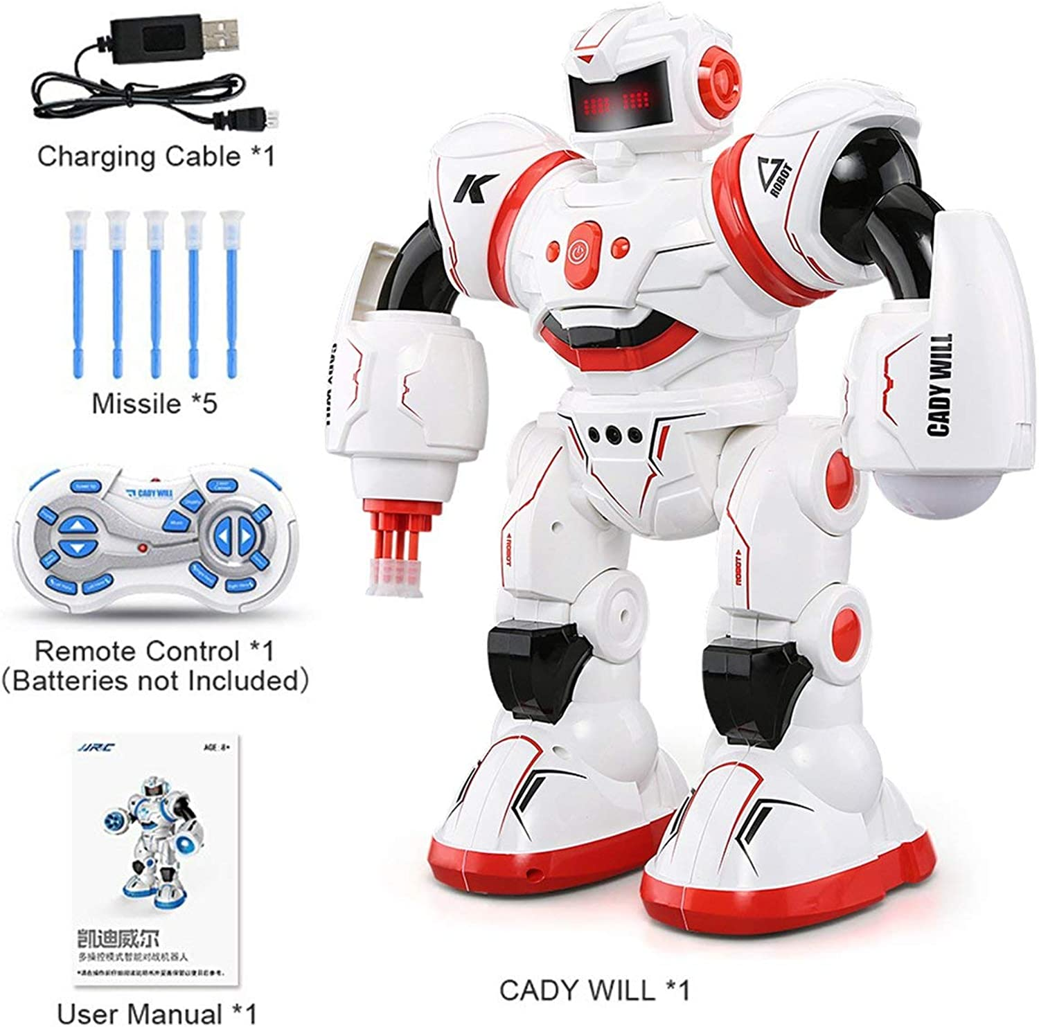 JJRC R3 Programmable Defender Remote Control Early Education Intelligent Robot Multi Funtion Musical Dancing RC Toy Kids Gift Rone Life