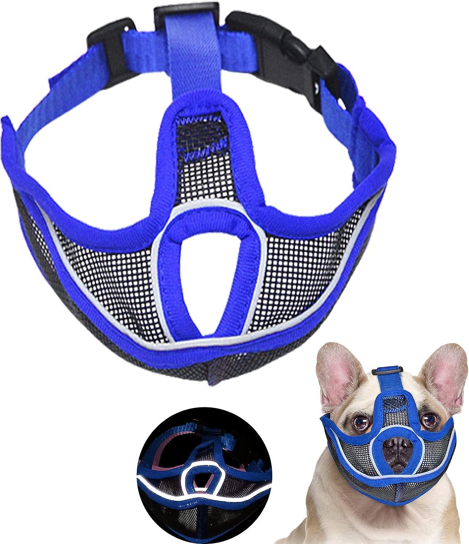 Ohkasanji Max 51% OFF Short Snout Dog free Muzzles Muzzle Bulldog Ref with 1Pack