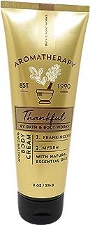 Bath and Body Works Aromatherapy 8 Ounce Thankful Frankincense Myrrh Moisturizing Body Cream