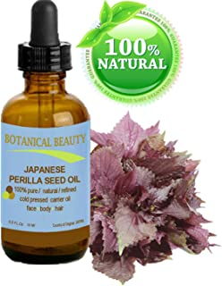 """PERILLA SEED OIL JAPANESE 100% Pure /100% Natural / Refined / Undiluted. 0.5 fl.oz-15ml. For Skin, Hair, Nail and Body Care. """"Perilla Seed Oil is a nutritional vegetable supplement of omega 3 & 6 for skin and hair"""". By Botanical Beauty."""