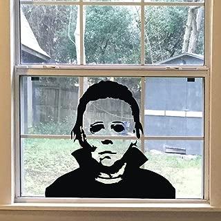 FlyWallD Halloween Holiday Decals Michael Myers Horror Living Room Sticker Funny Door Window Mirror Vinyl Art Decor