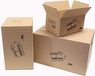Chely Intermarket, Cajas de cartón para mudanzas 50x35x30cm (Pack 20uds) Disponible en varias dimensiones | Canal simple de alta calidad | Fabricadas en España | 100% reciclables (50x35x30-5,40)