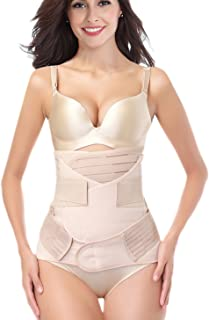 3 in 1 Postpartum Support Recovery Girdle Corset Belly Waist Pelvis Belt Shapewear Belly Wrap