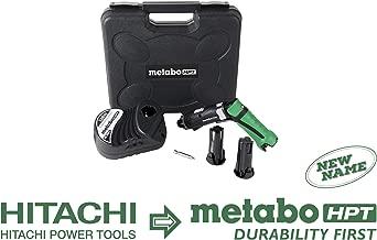 Metabo HPT DB3DL2 3.6V Cordless Screwdriver Kit, 2 Lithium Ion Batteries, Dual Position Handle, LED Light, 21 Clutch Settings, Forward/Reverse, Lifetime Tool Warranty