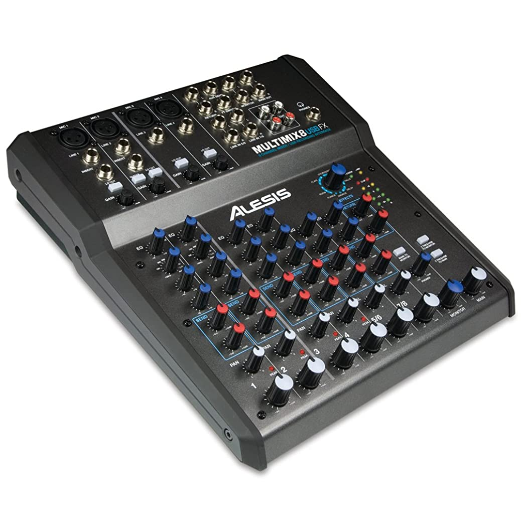 Alesis MultiMix 8 USB FX   8-Channel Mixer with Effects & USB Audio Interface zyjzkfdbse